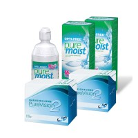 Purevision 2HD (Cx 6) x2 + Opti-free Pure Moist 300ml x 2 + 60ml