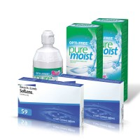 Soflens 59 (Cx 6) x2 + Opti-free Pure Moist 300ml x2 + 60ml