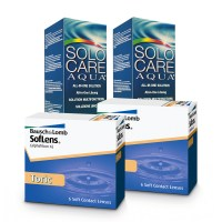 Soflens 66 Toric (Cx 6) x2 + Solo Care 360ml x2