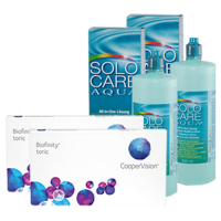 biofinity toric 6x2 + solo care 360ml  x 29