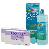 frequency XCEL toric 3x2 + solo care aqua 360ml7