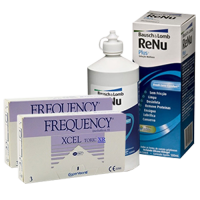 frequency xcel toric XR (cx3) x2 +renu multiplus 360ml7